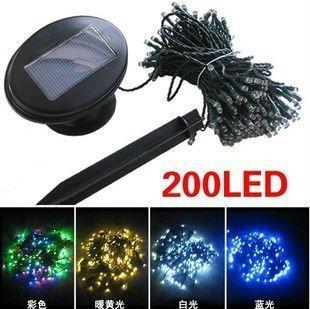 NEW Solar Powered 200 LED Fairy Light String Xmas Party outdoor Garden Decor Blue Light Free Shipping
