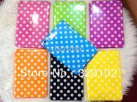 For ipad mini Dot case Polka Dots TPU Soft Shell Case Cover for iPad Mini 100pcs/lots
