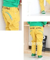Best selling!! promotion letter zipper multicolour boys pants casual slim long pants kids trousers free shipping
