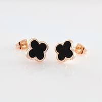 Cross stud earring black acrylic earring ITALINA 18k gold accessories female