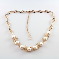 Luxury Pearl Pendant Necklace 18K Gold Necklace Graceful Woman Necklace Accessories ITALINA Brand Free Shipping