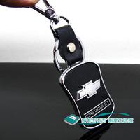 Genuine leather car chevrolet male keychain key ring key chain CHEVROLET