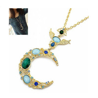 Min Order 15$ Free Shipping 2013 Newest Palace Moon Star Hollow Necklaces Pendants Good Quality Wholesale Hot HG0584