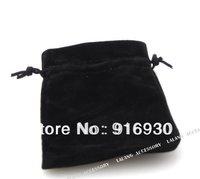 150 pcs/Lot Black Corduroy Gift Jewellery Bags 7*9cm High-grade black velvet bag ZF111
