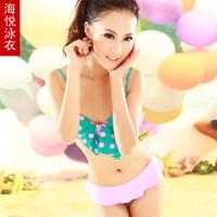Haiyatt garden swimsuit hot spring fashion bow girl split triangle bikini female swimwear free shipping
