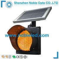 200MM Yellow Solar Flashing Warning Light