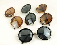 The men and women Retro Sunglasses, UV protection sunglasses Circle lenses Sunglasses (10 pieces/lot) Free shipping