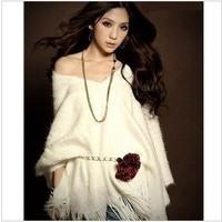 Banquet noble and luxurious villus fur scarf tassel cloak type cape shirt elegant female