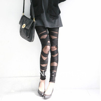 HOT SELL Celeb Sexy See Through Black Cross Band Leggings Legwear   BEST PRICE & BEST QUALITY