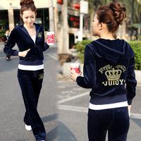 Hot sale ! Free shipping !Autumn velvet sports set Women autumn and winter casual set 2013 women's sweatshirt sportswear 01