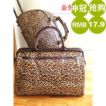 FREE SHIPPING Fashionable leopard print bag large capacity travel bag  casual print luggage