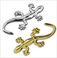 3D Gecko Shape Chrome Badge Emblem Decal Car Sticker Free shipping