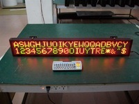 FREE SHIPPING 16*128dot matrix Indoor 2Lines LED Text Information Display 6.3'' * 40'' with pitch 7.62mm High quality Fast Ship