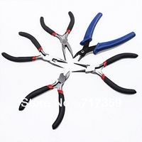 Hot Sale 1set(5pcs) New Flat Mini Needle Nose/Round/Diagonal Pliers Jewelry Tools Set +Free Shipping  180020