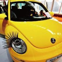 2pcs 3D Eyelash/3D car logo sticker /3D Automotive eyelashes car eye lashes lashes