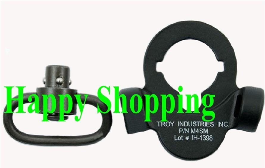Troy full steel dual side QD sling swivel mount Black for AEG free shipping(China (Mainland))