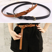 [77 Fashion] fashion personality vintage copper 8 brief belt decoration slim leather female