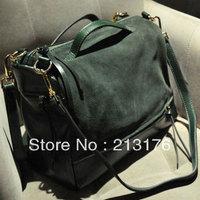 grind arenaceous handbag cowhide,Hot sale retro hand the bill of  lading shoulder bag  FREE SHIPPING!