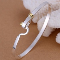 B073 iuca rlla Sale Free shipping 925 Silver Bangle 925 Jewelry Fashion Jewelry Bracelet