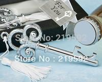 Free Shipping Wedding Gifts, Metal Bottle Openers, Keyl Shaped, 20pcs per Lot