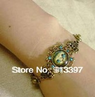 6PCS New Arrival Alice in Wonderland DISAPPEARING Rhinestone CHESHIRE Flower Cat Pussy Bracelet