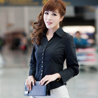 2012 spring brief long-sleeve shirt slim puff sleeve shirt