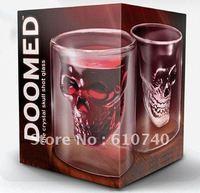 Wholesale Doomed Crystal Skull Shot Glass / Crystal Skull Head Vodka Shot Glass Free shipping