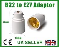 Bayonet B22 - E27 Screw Lamp Light Bulb Socket Base Cap Converter Adaptor Holder