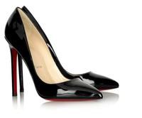 black pumps fashion high heel shoes woman high heels wedding shoes genuine leather 10cm Women Pumps shoes