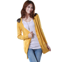 2013 spring sweet women's cardigan slim epaulette sweater outerwear trend 2592