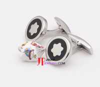 wholesale Stainless Steel Men's Black Cuff Links/wholesale high fashion jewelry