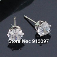 12 Pairs Brand Princess Rhinestone Stainless Steel Stud Earring Shinning Earrings Best For Girl Ladies