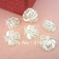 Free Shipping 200pcs/lot 16mm cream white imitation flatback exquisite flower pearls,fashion beads for DIY decoration