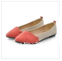 The new flat shoes pointed spell color female shoes