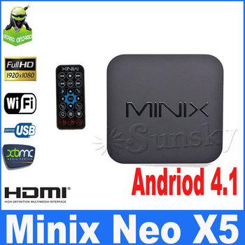 MINIX NEO X5 RK3066 Dual Core Cortex A9 Google Android TV Box Wireless Bluetooth 1GB/16GB HDMI Internet Smart TV Box with Remote
