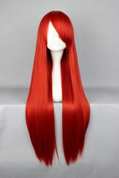 80cm Long Fairy Tail-Elza-Scarlet Red Cosplay Costume Wig(China (Mainland))