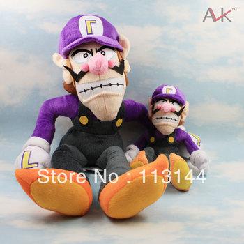 Free shipping Wholesale 2pcs/set  Super Mario Bros Brothers Waluigi Plush Doll, Waluigi plush waluigi plush toy doll