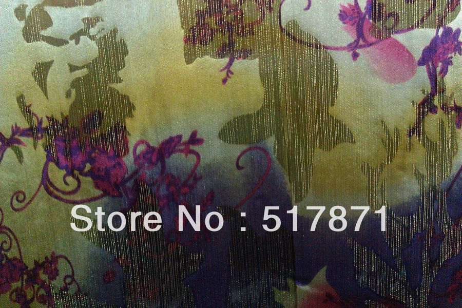 Free Shipping 100% mulberry silk White background printed fabric ...