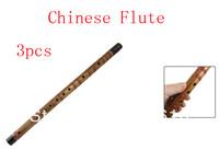 "Musical Instrument 21"" Long Alto D Dizi Chinese Bamboo Flute 3pcs"