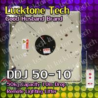 Lighting Lifter Remote-controlled Lighting Hoist Light Lift DDJ50-10 (50kg Capability 10m drop 110--240V) Free Shipping