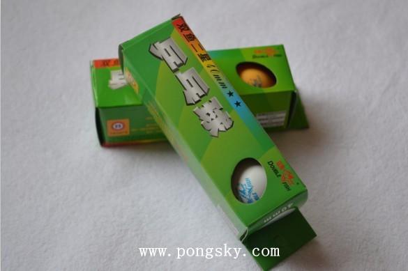 Free shipping wholesale-china 30X double fish 2star Table Tennis Ball Ping Pong Ball NEW(China (Mainland))