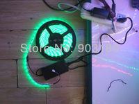 5 m/lot LED hightlight SMD 5050 flex led strip 300LEDs DC12V RGB+controller + AC to DC power waterproof Soft light fast shipping