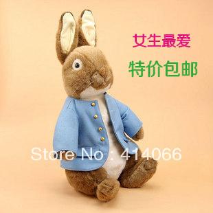 free shipping cute plush Peter Rabbit stuffed toys cloth doll christmas gift 42cm size
