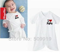 Hot sell New I love papa mama baby shirt/T-Shirt boy & girl short sleeve shirt Shirt,Infants & Toddlers T-shirt , free shipping