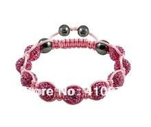 Fine Jewlery Shamballa Bracelet Fashion Jewelry Micro Pave CZ Disco Colour Beads Color Rope Shamballa Bracelets CCB008
