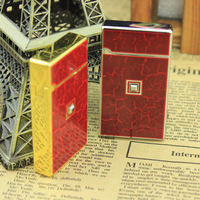 Quality touch sensor type windproof lighter gift box set crack k0.13 gold and silver