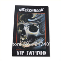 Free Shipping  Chinese Tattoo Flash Book YW Tattoo Sketch A3  in Hardcover  A3  New  42*28.5cm