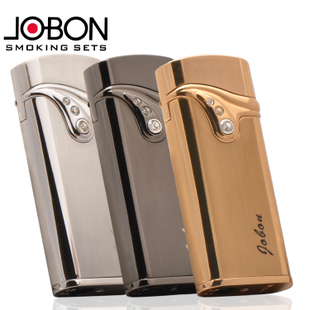 Jobon zhongbang k gold diamond electronic touch induction windproof lighter male quality k0.17 gift box set(China (Mainland))