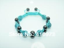 Fine Jewlery Shamballa Bracelet Fashion Jewelry Micro Pave CZ Disco Colour Beads Color Rope Shamballa Bracelets CCB005