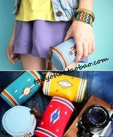 Yizi vintage cowhide tassel mini small storage bag coin purse 4